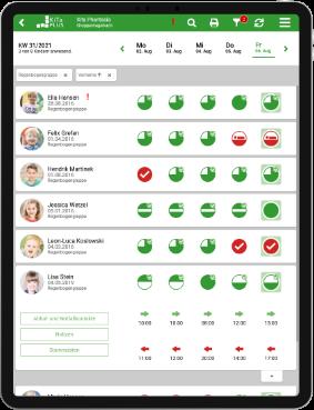 iPad Ansicht der kitaplus Gruppen-App